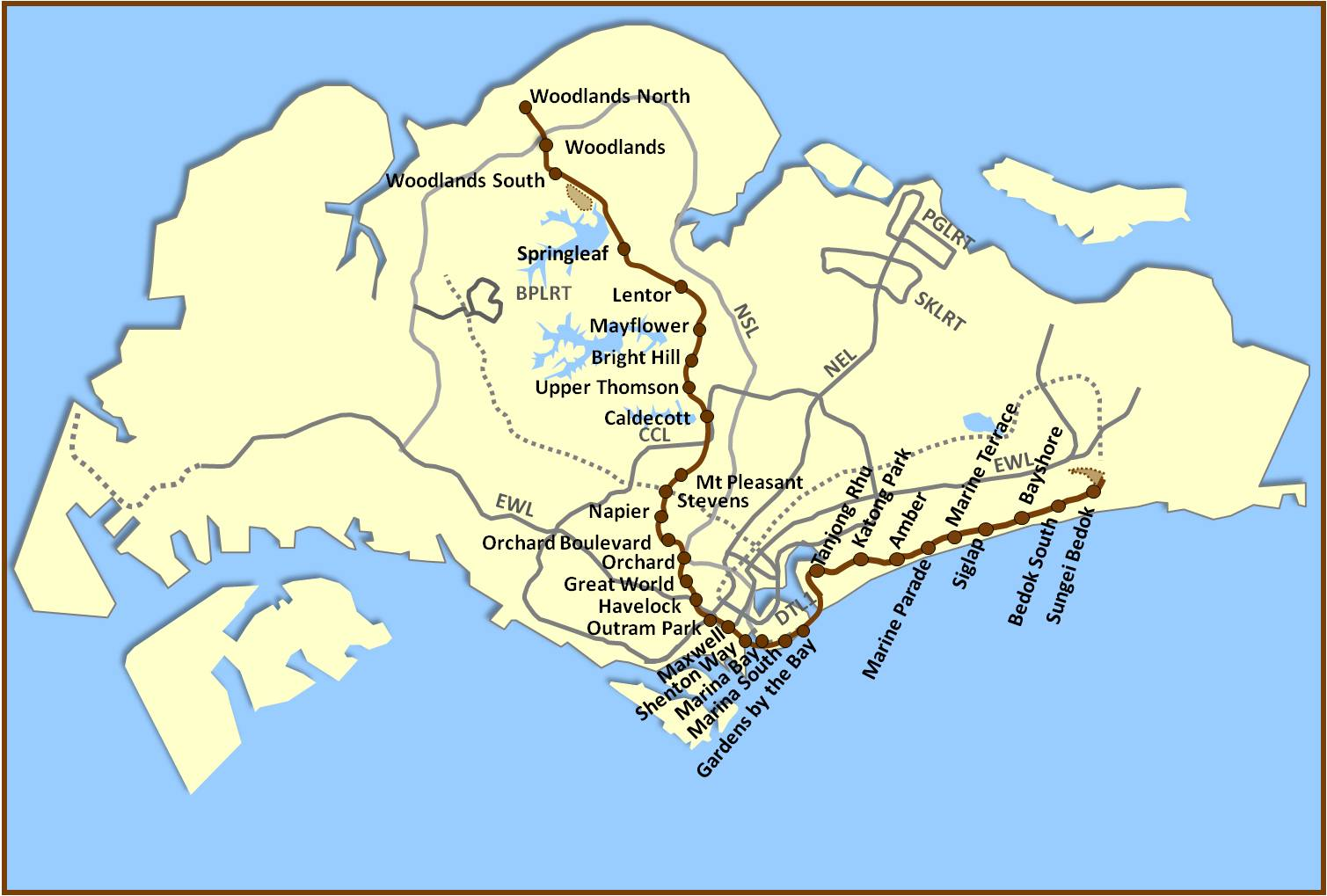 Thomson-East Coast MRT line map. Enjoy the convenience in Forestville