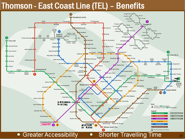 New updated MRT map with Thomson-East Coast Line, Downtown Line, and ...